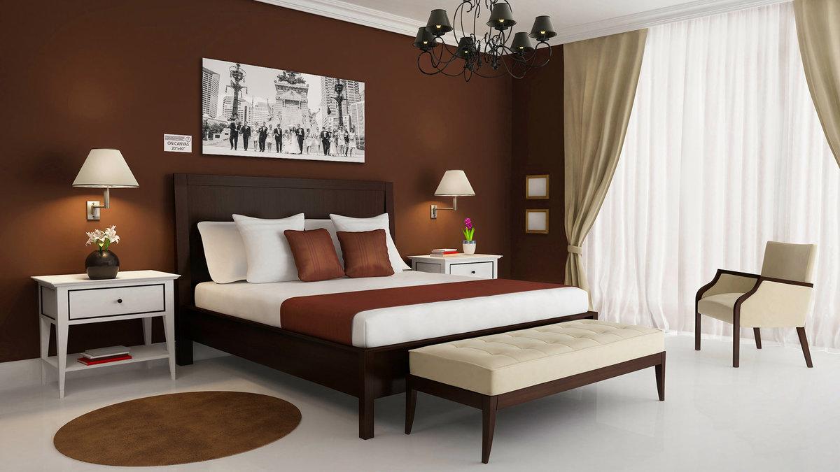 кафе спальня в бело коричневых тонах фото признаками