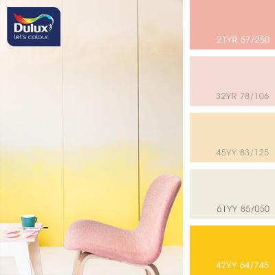 Цвет Dulux 45YY 83/125 (пастельный) в интерьере гостиной (фото)