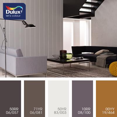 Цвет Dulux 50YR 83/003 (пастельный) в интерьере зала (фото)