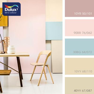 Цвет Dulux 90RR 76/062 (розовый) в интерьере спальни (фото)