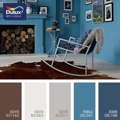 Цвет Dulux 50YR 53/011 (кофейный) в интерьере зала (фото)