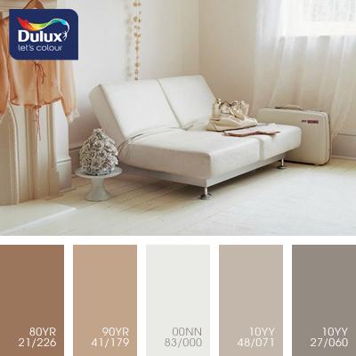 Цвет Dulux 90YR 41/179 (кофейно-бежевый) в интерьере комнаты (фото)