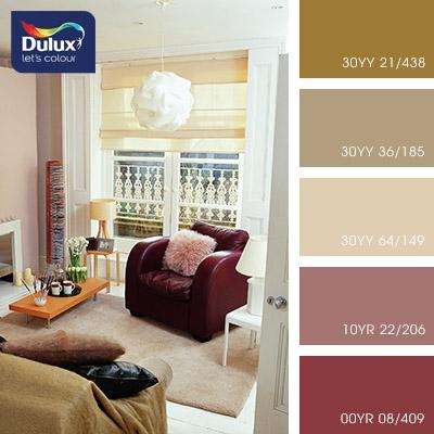 Цвет Dulux 30YY 64/149 (пастельный) в интерьере гостиной (фото)