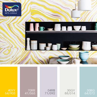 Цвет Dulux 04RB 71/092 (сиреневый) в интерьере спальни (фото)