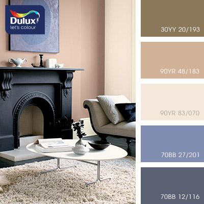 Цвет Dulux 30YY 20/193 (кофейный) в интерьере спальни (фото)