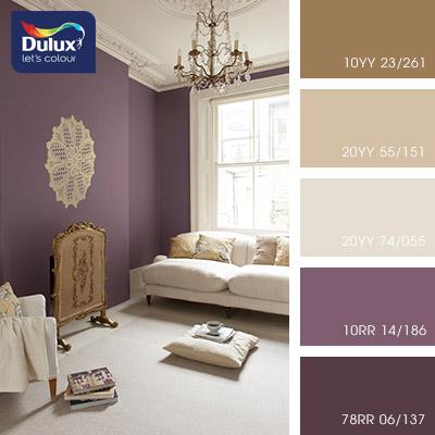 Цвет Dulux 20YY 74/055 (пастельный) в интерьере спальни (фото)