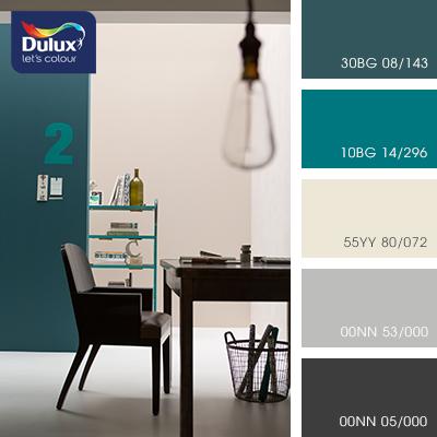 Цвет Dulux 00NN 53/000 (серый) в интерьере гостиной (фото)