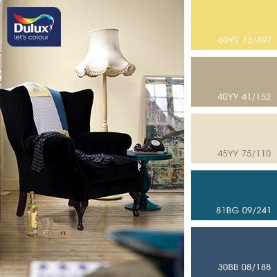 Цвет Dulux 40YY 41/152 (кофейный) в интерьере гостиной (фото)