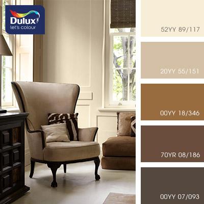 Цвет Dulux 52YY 89/117 (пастельный) в интерьере зала (фото)