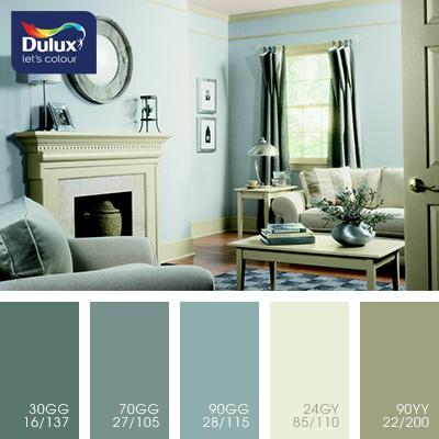 Цвет Dulux 24GY 85/110 (пастельный зеленый) в интерьере спальни (фото)