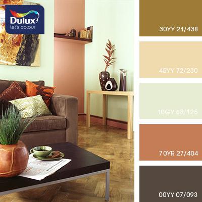 Цвет Dulux 70YR 27/404 (розовый) в интерьере гостиной (фото)