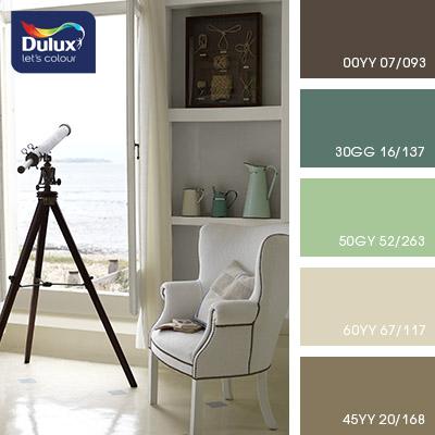 Цвет Dulux 50GY 52/263 (салатовый) в интерьере спальни (фото)