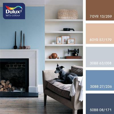 Цвет Dulux 80YR 57/179 (бежевый) в интерьере гостиной (фото)