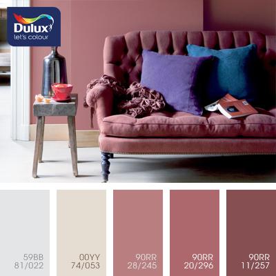 Цвет Dulux 59BB 81/022 в интерьере гостиной (фото)