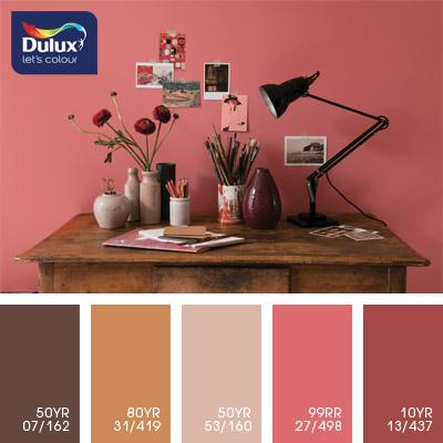 Цвет Dulux 50YR 07/162 (шоколадный) в интерьере спальни (фото)