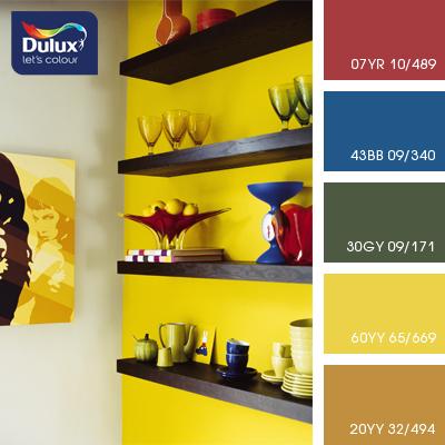 Цвет Dulux 60YY 65/669 (ядовитый лимон) в интерьере кухни (фото)