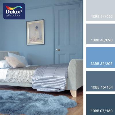 Цвет Dulux 10BB 07/150 (синий) в интерьере гостиной (фото)